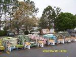 Walmart parking lot near the garden center.
