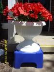 Red, white & blue planter