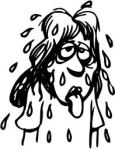 Lady sweating