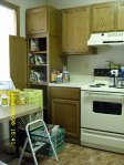 One corner of the kitchen