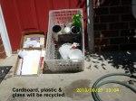 Recycling cardboard & plastic