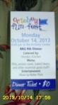 Ticket for BarBQ dinner