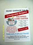 Advertising garage sale