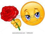 Smiley face with flower