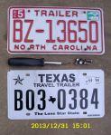 NC & TX license plates