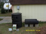 """""""Compost Tea"""" container in place"""