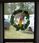 Stained glass wreath