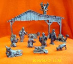 Pewter Nativity