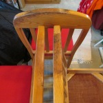 Three chairs, tops are blemished