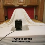 Trying to dry mattress pad