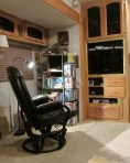 Night view of the glider-recliner