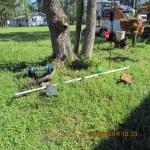 Fallen bird feeders
