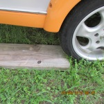 Wood for under wheels
