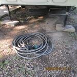 Coiled garden hose