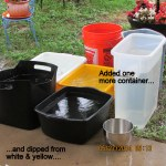 Containers of water
