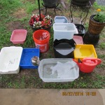 Twelve containers