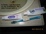 Toothpaste goof