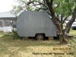 Very old teardrop trailer