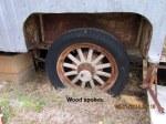Wood spokes