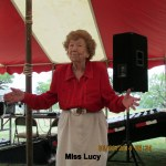 Miss Lucy under tent