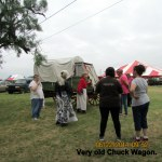Miss Lucy telling about old Chuck Wagon