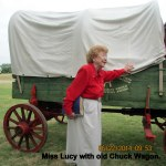 Miss Lucy with old Chuck Wagon