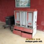 Antique grain mill