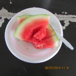 Watermelon with supper