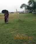 Nell with umbrella