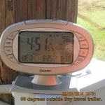 Time and outside temperature