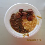 Sausage, beans and hominy