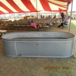 Horse trough for baptism