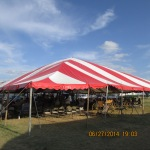 The tent under blue sky