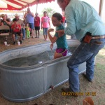 Girl baptized by her grandfather