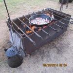 Bacon frying on open fire