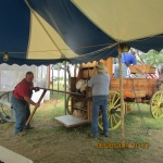 Setting up the chuck wagon