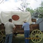 Chuck wagon with their church logo