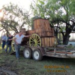 Loading a chuck wagon
