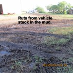 Ruts from stuck in the mud