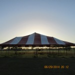 Sunset behind worship tent