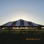 Sunset behind worship tent