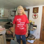Lady with red T-shirt