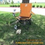 Chair on grass at Walmart