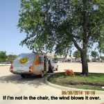 Wind blows over the chair