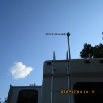 Antenna up on ladder
