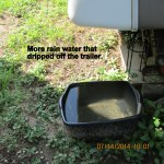 Rain water off trailer