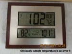 Time and temperature indoors