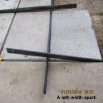 Lath width apart