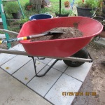 Wheelbarrow with extra dirt