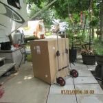 The box with second new rain barrel